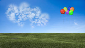 Picture of a a heart cloud on blue sky Royalty Free Stock Photography