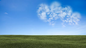 Picture of a a heart cloud on blue sky Royalty Free Stock Images