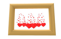 Picture with hearts Royalty Free Stock Photography