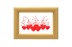 Picture with hearts Stock Photo