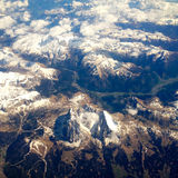 Picture of Height plane view of mountains. Height plane view of mountains stock photos