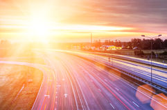 Picture of a highway Stock Images