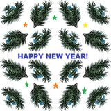 Picture for the holiday. ` Happy New Year!`.. royalty free stock image