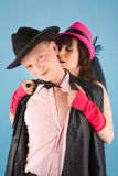 Picture of hot colorful couple Royalty Free Stock Images