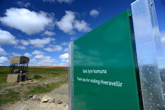 Picture of hveravellir Signage, Iceland Stock Image