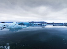Picture of ice blocks in Pond Glacier Stock Photography
