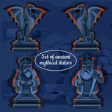 Picture ice mystical ancient statues Royalty Free Stock Image