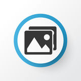 Picture Icon Symbol. Premium Quality Isolated Gallery Element In Trendy Style. Royalty Free Stock Photography
