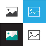 Picture Icon Vector Illustration Stock Photography