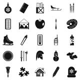 Picture icons set, simple style Stock Image
