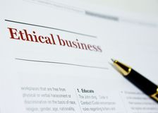 Business Ethics royalty free stock photos