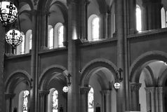 Windows In Catholic Church. This is a picture inside a Catholic Church in a monastery in Illinois royalty free stock photos