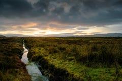 Irish Bogland at Sunset royalty free stock photos