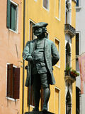 Picture of Italy, Venice, Campo San Bartolomeo, Carlo Goldoni  Royalty Free Stock Images