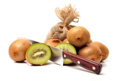This picture is a kiwifruit Royalty Free Stock Photos