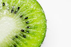 This picture is a kiwifruit on white background Stock Image