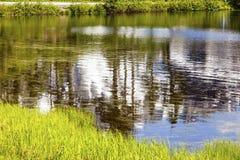 Picture Lake Abstract Mount Shuksan Washington USA Stock Photography