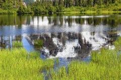 Picture Lake Abstract Mount Shuksan Washington USA Stock Images