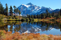 Picture Lake at Mt. Baker royalty free stock images