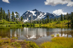 Picture Lake, Mt. Baker-Snoqualmie National Forest. Royalty Free Stock Image