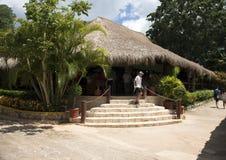 Restaurant in the Ik Kil Archaeological Site Stock Photo