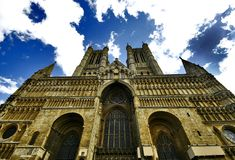 Domineering Stature of Lincoln Cathedral Stock Image