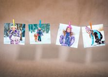 Picture of a little cute girl Stock Images