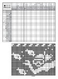 Picture logic puzzles. Japanese crossword, nonogram with solution for beginners vector illustration