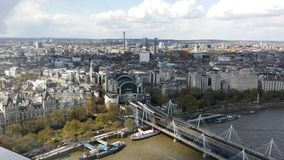 Picture from the London eye Royalty Free Stock Photography