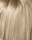 Picture of long, straight blond hairstyle. Picture of long, straight blond haircut Royalty Free Stock Image