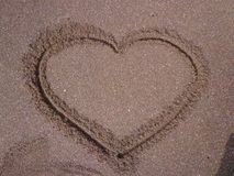 A picture of love on beach stock photo