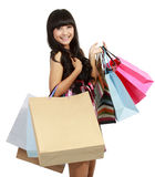 Picture of lovely woman with shopping bags Royalty Free Stock Photography