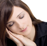 Picture of lovely young sleeping woman Stock Photo