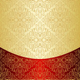Luxury Background decorated a gold pattern. Stock Images