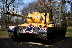 M46 Patton Tank. This is a picture of the M46 Patton Tank on display at Cantigny Tank Park located in Winfield, Illinois in DuPage County.  The M46 was designed Royalty Free Stock Photo