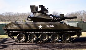 M551A1 Sheridan Tank. This is a picture of a M551A1 Tank on display at the Cantigny Tank Park located in Winfield, Illinois in DuPage County.  The M551 is an Royalty Free Stock Photo