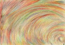 Hyperspace jump. The picture is made by multi-color pencils on paper. The image size is about A4 Stock Photos
