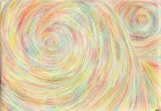 Space tunnels. The picture is made by multi-color pencils on paper. The image size is about A4 Stock Photo