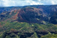 Waimea Canyon, Kauai, Hawaii. This is a picture of the majestic Waimea Canyon, Kauai, Hawaii. Also known as the Grand Canyon of the Pacific Royalty Free Stock Photos