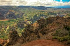 Waimea Canyon, Kauai, Hawaii. This is a picture of the majestic Waimea Canyon, Kauai, Hawaii. Also known as the Grand Canyon of the Pacific Stock Photo