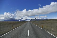 Traveling Iceland on the ring road, glacier in the background! stock photo