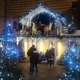 Christmas stall royalty free stock photos