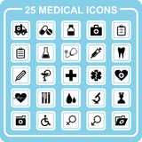 25 medical icons. Royalty Free Stock Photos