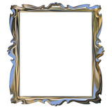 Picture metallic chrome frame with pattern Stock Images