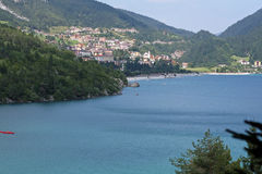 Molveno lake during summer Stock Image