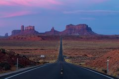 Monument Valley during Sunset from Forrest Gump. This is the picture of Monument Valley during Sunset from Forrest Gump, Utah Stock Images