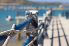 Picture of mooring rope. Stock Images