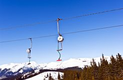 Picture of the mountain lifts Stock Images