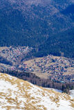 Picture with mountain village from Carpathian Mountains, Romania Royalty Free Stock Photos