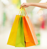 Picture of multi colored shopping bags Stock Photography